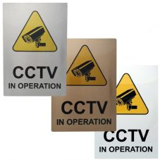 A6 CCTV In Operation Aluminium Metal Sign-Door,Notice,Office,Business,Security,Camera,Home,Colour
